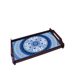 Pristine Turkish Medium Wooden Tray Tray By Kolorobia