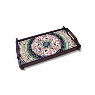 Turkish Fervor Small Wooden Tray Tray By Kolorobia