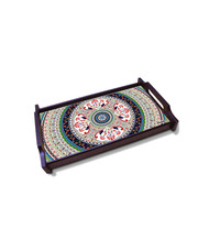 Turkish Fervor Large Wooden Tray Tray By Kolorobia