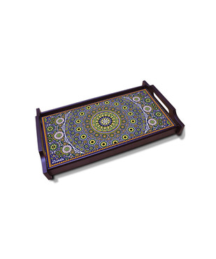 Moroccan Inspiration Small Wooden Tray Tray By Kolorobia