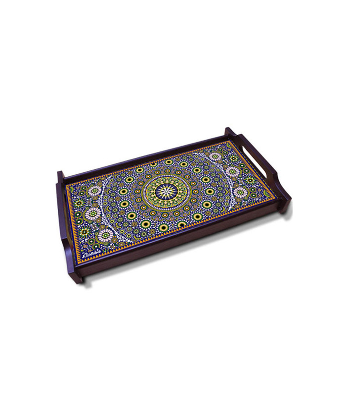 Moroccan Inspiration Medium Wooden Tray Tray By Kolorobia