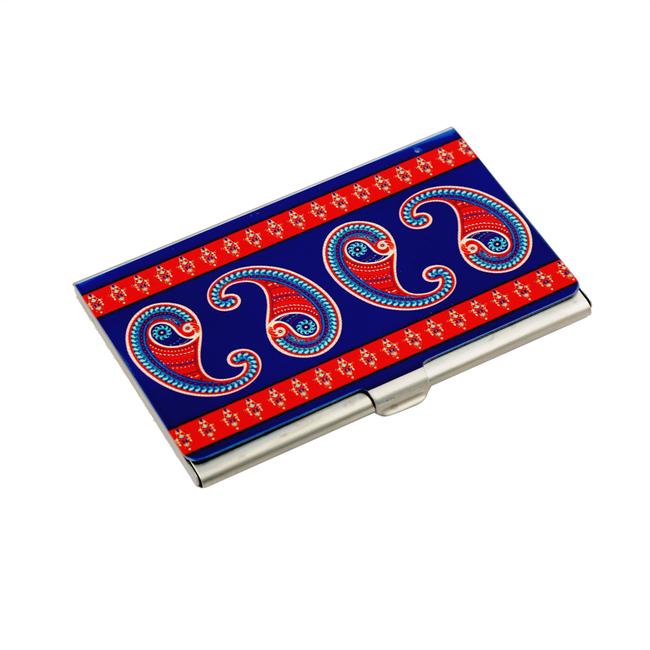 Majestic Paisley Visiting Card Holder Visiting Card Holder By Kolorobia