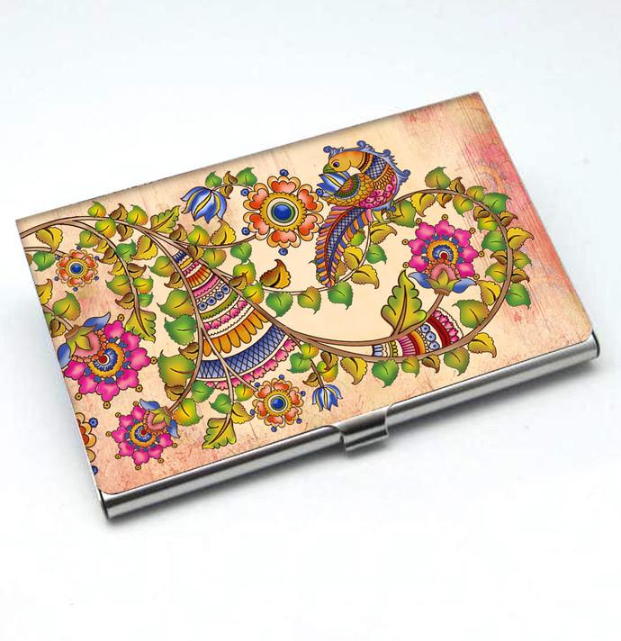 Kalamkari Finesse Card Holder Visiting Card Holder By Kolorobia