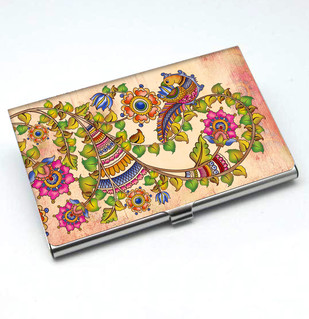 Kalamkari Finesse Card Holder Visiting Card Holder By Kolorobia