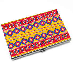 Dazzling Ikat Card Holder Visiting Card Holder By Kolorobia