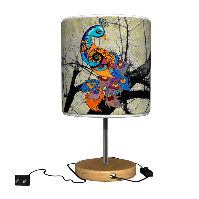 Charismatic Peacock Table Lamp Table Lamp By Kolorobia