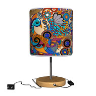 Peacock Admiration Table Lamp Table Lamp By Kolorobia