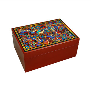 Peacock Admiration Tea Chest Kitchen Ware By Kolorobia