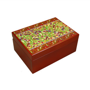 Kalamkari Finesse Tea Chest Decorative Box By Kolorobia