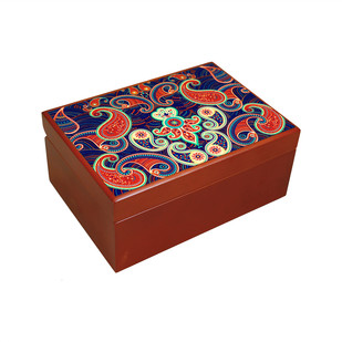 Majestic Paisley Tea Chest Kitchen Ware By Kolorobia