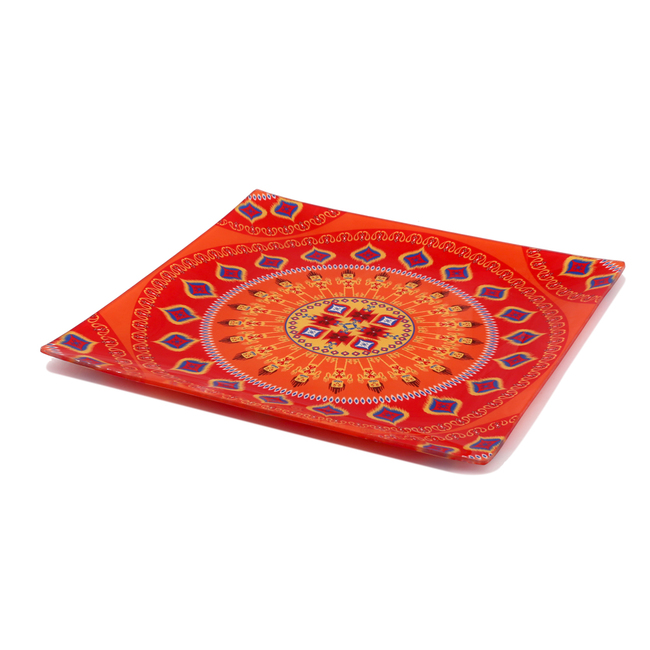 Dazzling Ikat Snack Platter Small Platter By Kolorobia
