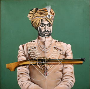 UNTITLED by Masuram Ravikanth, Realism Painting, Acrylic on Canvas, Green color