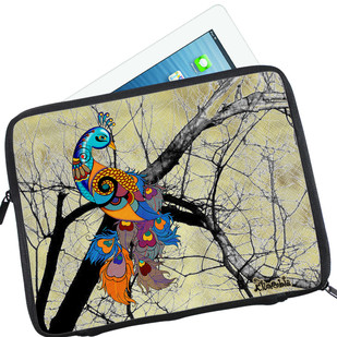 Charismatic Peacock I-Pad Sleeve Ipad Sleeve By Kolorobia