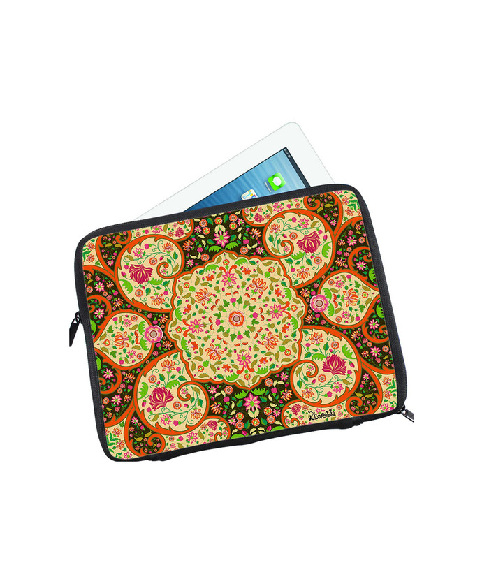 Mughal Blooms I Pad Sleeve Ipad Sleeve By Kolorobia