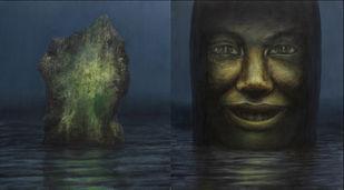 De-FACING 2 (diptych) Digital Print by Basist Kumar,Impressionism