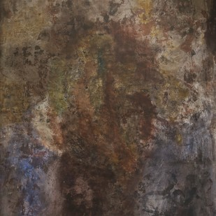 untitled by Yogendra Tripathi, Abstract Painting, Acrylic on Canvas, Brown color