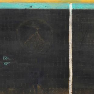 PURNA KUMBH by Partha Dasgupta, Minimalism Painting, Mixed Media on Canvas, Gray color