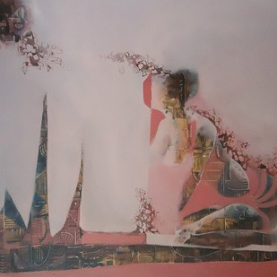 Untitled by Ritu Lahoti, Digital Digital Art, Mixed Media on Canvas, Brown color