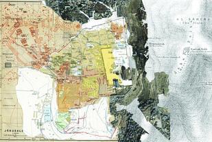 Jerusalem 2 by Mustafa Khanbhai, Digital Digital Art, Digital Print on Archival Paper, Gray color