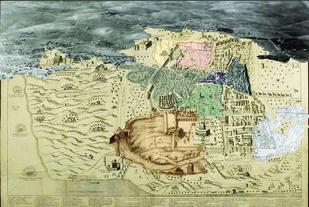 Jerusalem 4 by Mustafa Khanbhai, Expressionism Digital Art, Digital Print on Archival Paper, Beige color