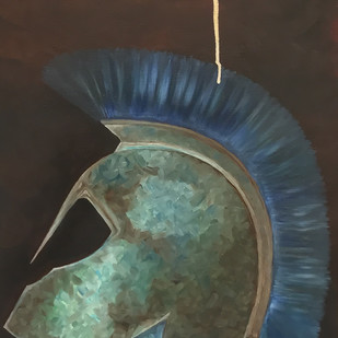 Warrior by RuchikaV, Expressionism Painting, Oil & Acrylic on Canvas,