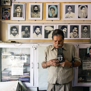 Selfie Man by Vikas Gupta, Image Photography, Digital Print on Enhanced Matt, Gray color