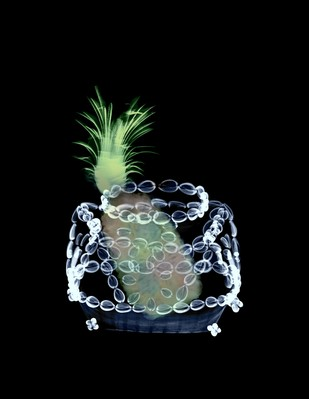 Pineapple in the tribal basket by Tushar Waghela, Digital Photography, Digital Print on Archival Paper, Black color