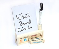 IVEI Wooden calendar with a white board Stationery By i-value-every-idea