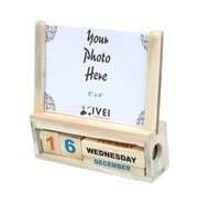 IVEI Wooden desk calendar with a photo frame Stationery By i-value-every-idea