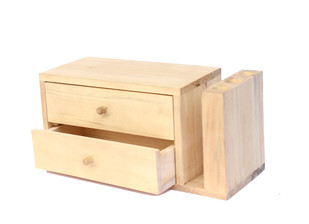 IVEI Wooden Pen Stand with Drawers Stationery By i-value-every-idea