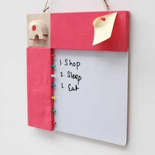 IVEI Pin board + whiteboard, Combination board elephant - Pink Wall Decor By i-value-every-idea
