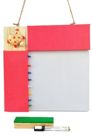 IVEI Pin board + whiteboard, Combination board Turtle - Pink Wall Decor By i-value-every-idea