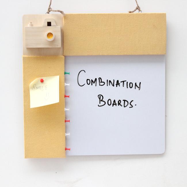 IVEI Pin board + whiteboard, Combination board Camera - Yellow Stationery By i-value-every-idea