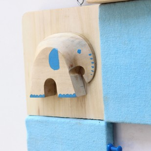 IVEI Pin board + whiteboard, Combination board elephant - Blue Wall Decor By i-value-every-idea