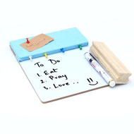 IVEI Pin board + whiteboard, Combination board - Small (Blue) Wall Decor By i-value-every-idea