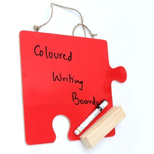 IVEI Puzzle shaped coloured Writing Board (Red) Wall Decor By i-value-every-idea