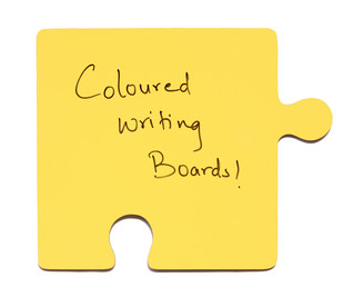 IVEI Puzzle shaed coloured Writing Board (Yellow) Wall Decor By i-value-every-idea