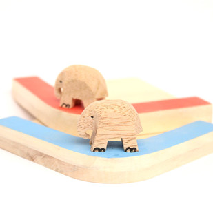 IVEI Wooden Elephant Mug Coasters (set of 2) Table Ware By i-value-every-idea