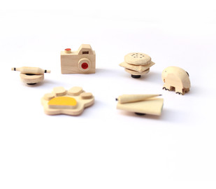 IVEI Cute Wooden Miniature Fridge Magnets Curio By i-value-every-idea