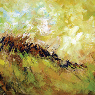moody sky by Sachin Upadhye, Abstract Painting, Oil on Canvas Board, Beige color