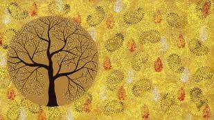 Aatam Vriksh Digital Print by Sumit Mehndiratta,Impressionism