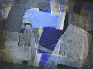 Grey Matter 3 by Shirish Deshpande, Abstract Painting, Acrylic on Canvas, Green color