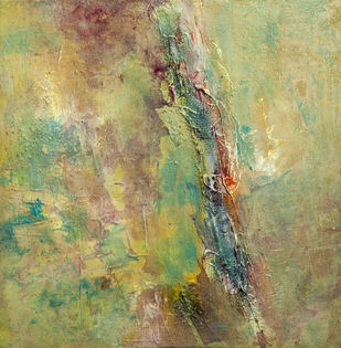 Untitled by Goutam Mukherjee, Abstract Painting, Acrylic on Canvas, Beige color