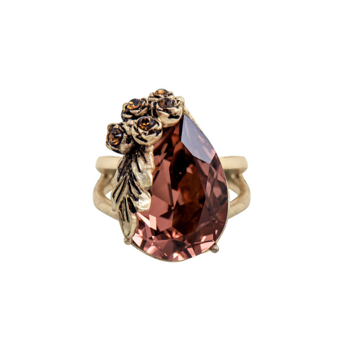 Autumn Ring in Swarovski Crystals by Nine Vice, Contemporary Ring