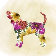 Flower Power Pup IV Digital Print by Popp, Grace,Art Deco
