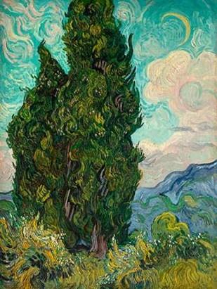 Cypresses I Digital Print by Van Gogh, Vincent,Expressionism