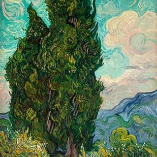 Cypresses I Digital Print by Van Gogh, Vincent,Expressionism
