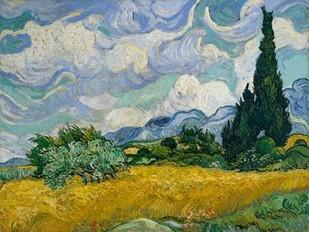 Cypresses II Digital Print by Van Gogh, Vincent,Impressionism