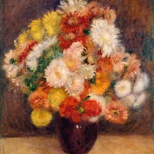 Bouquet of Chrysanthemums Digital Print by Renoir, Auguste,Expressionism