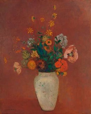 Bouquet in a Chinese Vase Digital Print by Redon, Odilon,Expressionism